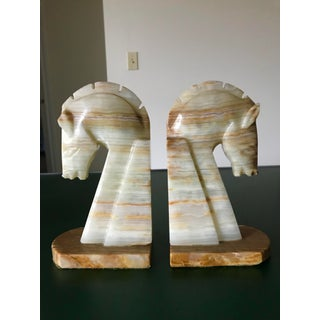 Vintage Solid Onyx Bookends - a Pair Preview