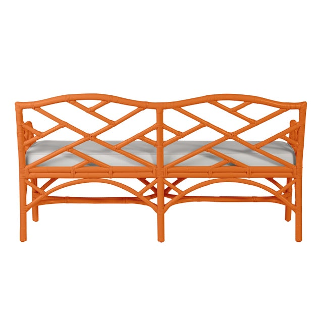 Chippendale Chippendale Bench - Orange For Sale - Image 3 of 6