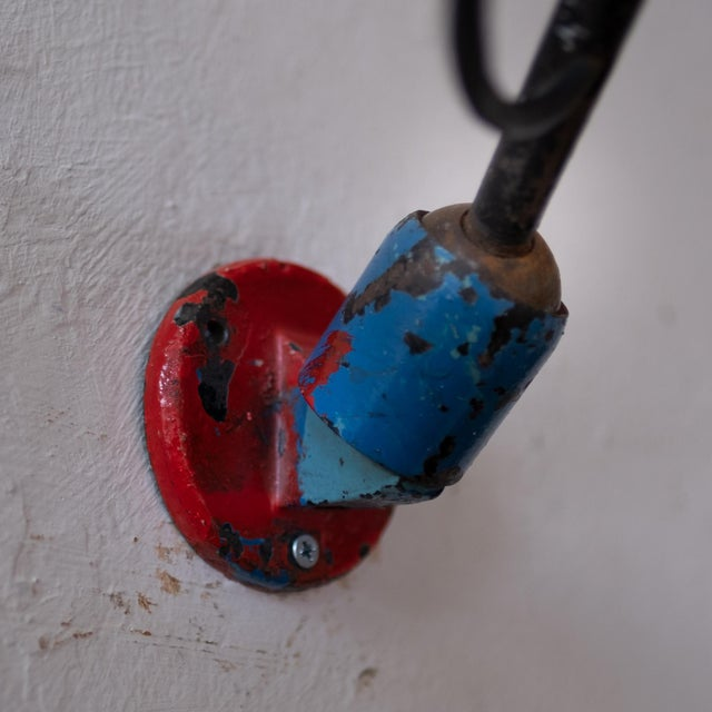 Vintage French Industrial Wall Lamp 1930s For Sale - Image 10 of 13