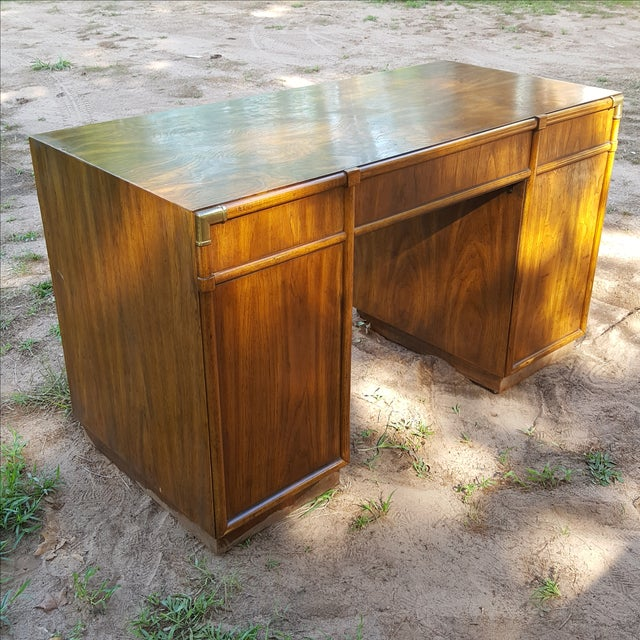 1960s Drexel Campaign Style Desk - Image 8 of 10