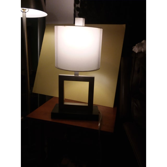 Modern Minimalist Square Table Lamp For Sale - Image 4 of 9