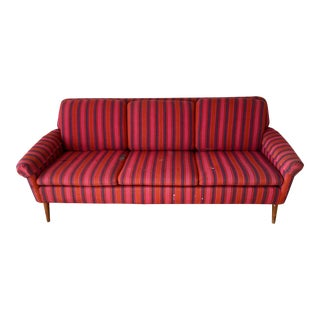 Swedish Mid-Century Modern Three Seat Sofa by FolkeOhlsson for Dux For Sale
