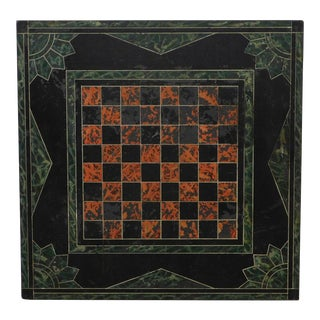 Antique Slate Chess Game Board (C) For Sale