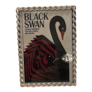 Braided Silverplate Swan Frame For Sale
