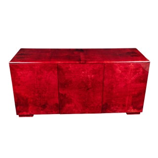 Rare Aldo Tura Goatskin Cabinet/Sideboard For Sale