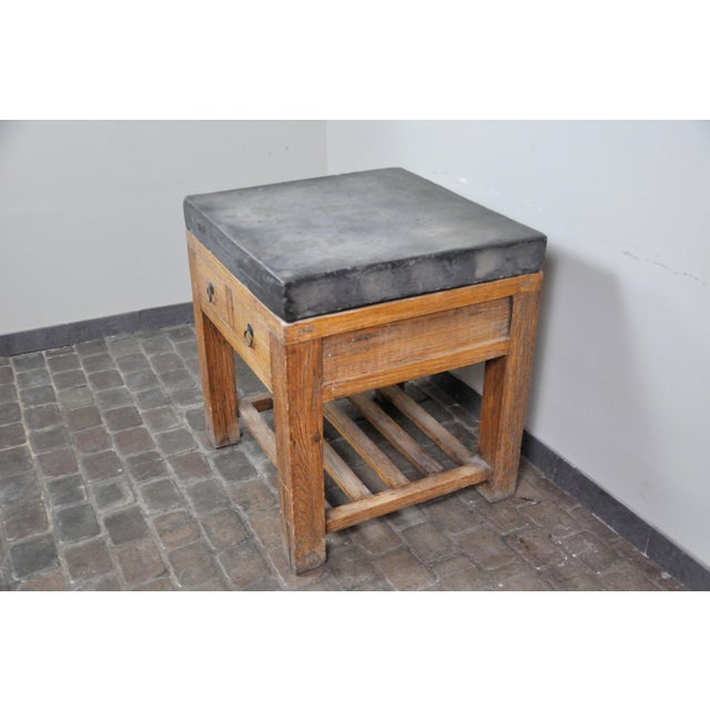 17th Century 17th Century Chinese Stone Top Incense Table From the Qing Dynasty For Sale - Image 5 of 13