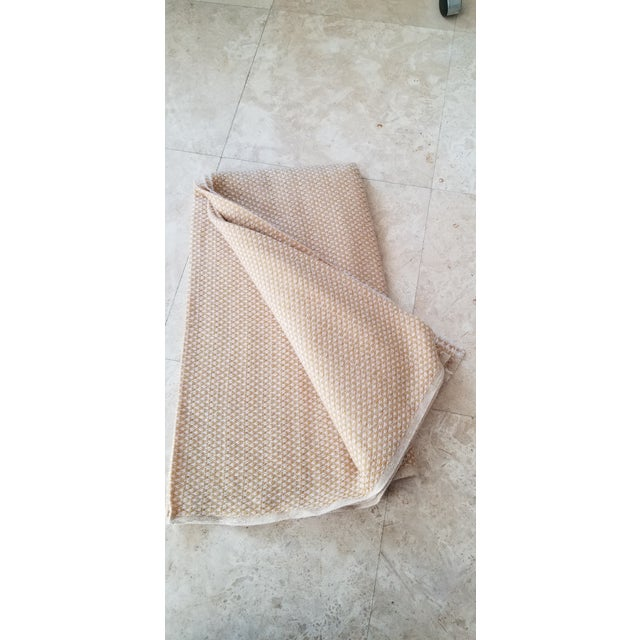 2010s Last Ca. Yellow-Beige Cashmere Blanket For Sale - Image 5 of 7