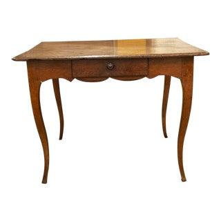 Vintage French Oak Side Table For Sale