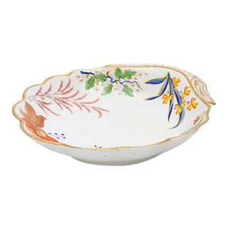 19th Century Spode Shell Shaped Porcelain Dish For Sale