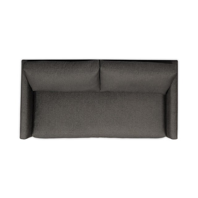 Not Yet Made - Made To Order Moss Home Linda Loveseat Crypton Granbury Graphite For Sale - Image 5 of 7