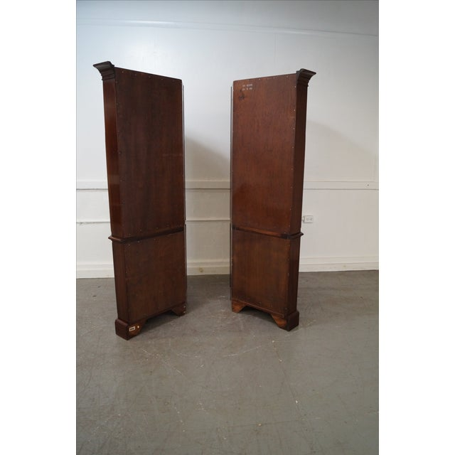 Ethan Allen Georgian Court Cherry Cabinets - Pair - Image 3 of 10