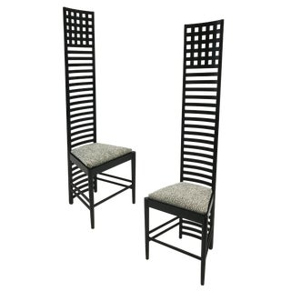 1980s Cassina Charles Rennie Mackintosh Hill House 1 Chairs - a Pair For Sale