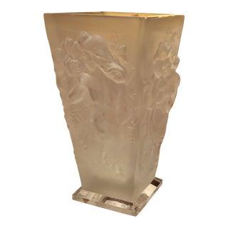 Lalique Bacchantes Frosted Vase For Sale