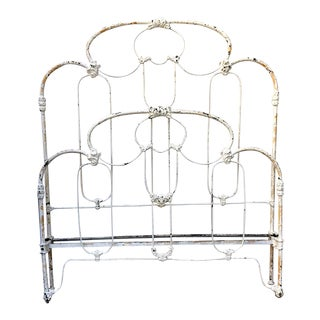 Cathouse Antique Iron Crown Canopy Bed Full/Queen For Sale