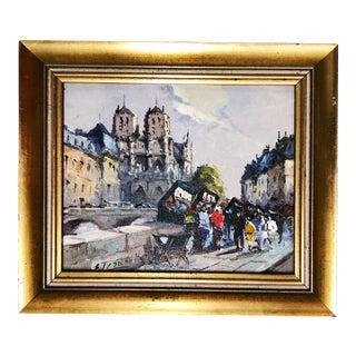Notre Dame Paris Oil Painting For Sale