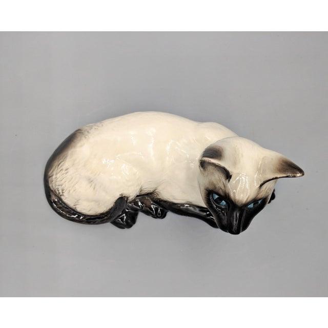 Royal Doulton English Mid-Century Porcelain Siamese Cat Figurine