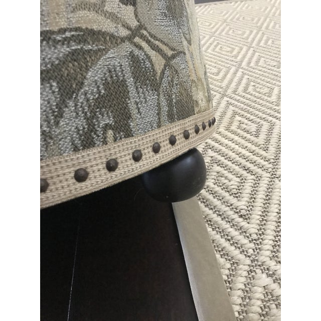 Brown Vintage Fabric Upholstered Foot Stool/Ottoman For Sale - Image 8 of 13