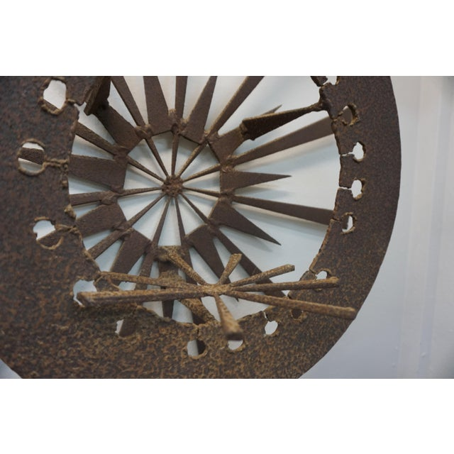 Torch Cut Brutalist Wall Sculpture For Sale - Image 4 of 7