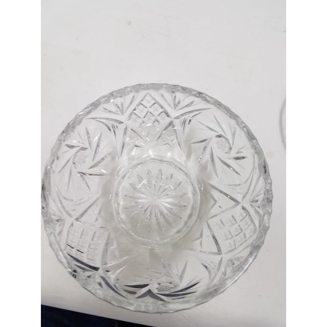 English Antique English Crystal Flower Frog For Sale - Image 3 of 6