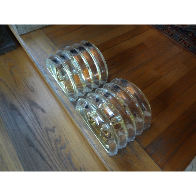 Brass & Lucite Sconces - A Pair - Image 5 of 5