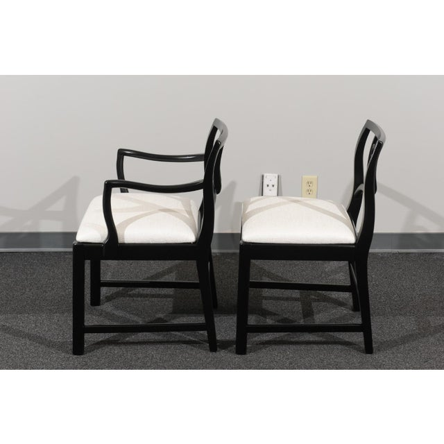 1960s Chic Restored Set of 6 Dining Chairs by Baker Furniture, circa 1960 For Sale - Image 5 of 13