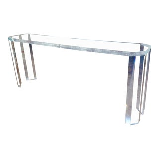 Lucite Console Table -Beautiful Mid Century Style - 7 Ft Long For Sale