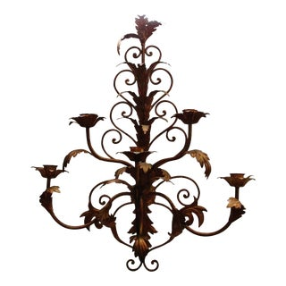 Italian Acanthus Leaf Candle Wall Sconce For Sale