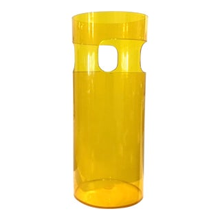1970s Mid Century Modern Plastic Umbrella Stand Designed by Gino Colombini for Kartell For Sale