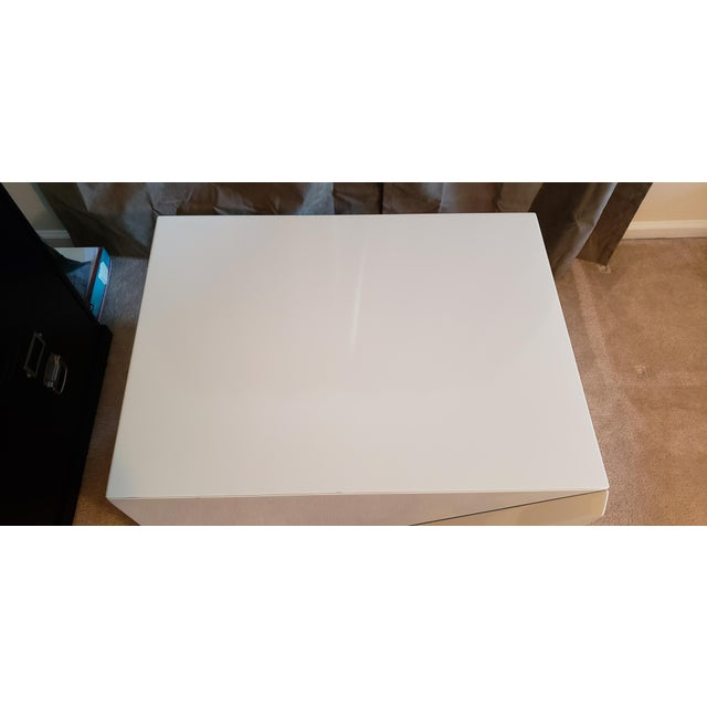 Rougier Cream Colored Lacquered End Tables - A Pair For Sale - Image 10 of 12