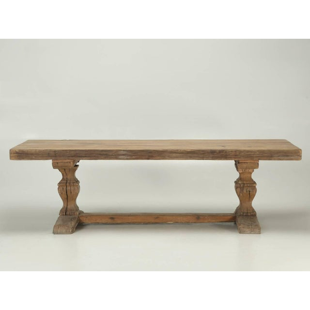 Antique French Trestle Table, Circa 300 Years Old For Sale In Chicago - Image 6 of 10