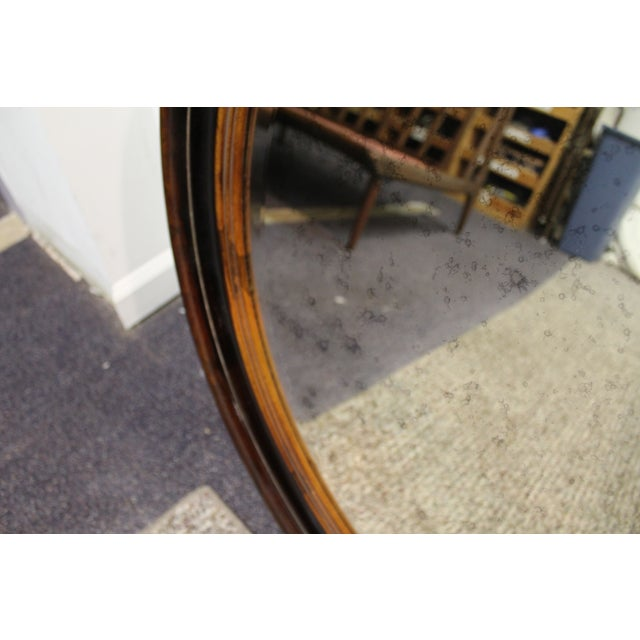 Antique Round Wall Mirror - Image 6 of 7
