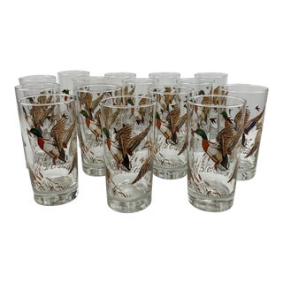 Vintage Mallard and Hen High Ball Glasses - Set of 15 For Sale