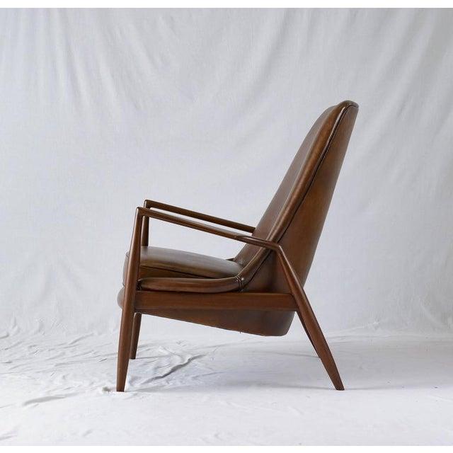 """Ib Kofod-Larsen Ib Kofod-Larsen High Back """"Seal"""" Chair For Sale - Image 4 of 10"""