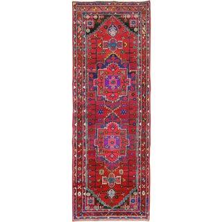 "Vintage Persian Hamadan Rug – Size: 3' 6"" X 9' 6"" For Sale"