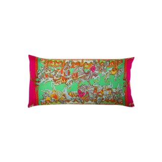 """Tournez Manege"" Hermès Silk Scarf Pillow For Sale"