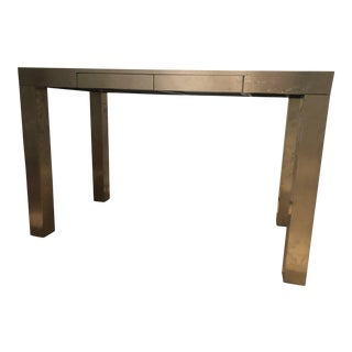 West Elm Metal Wrapped Parson's Desk For Sale