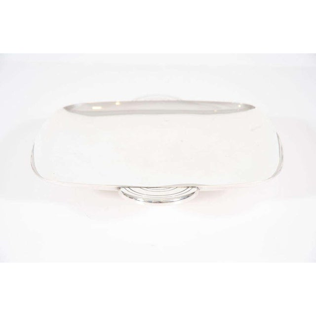 Mid-Century Modern Tommi Parzinger for Dorlyn Silver Plate Serving Tray For Sale - Image 3 of 8