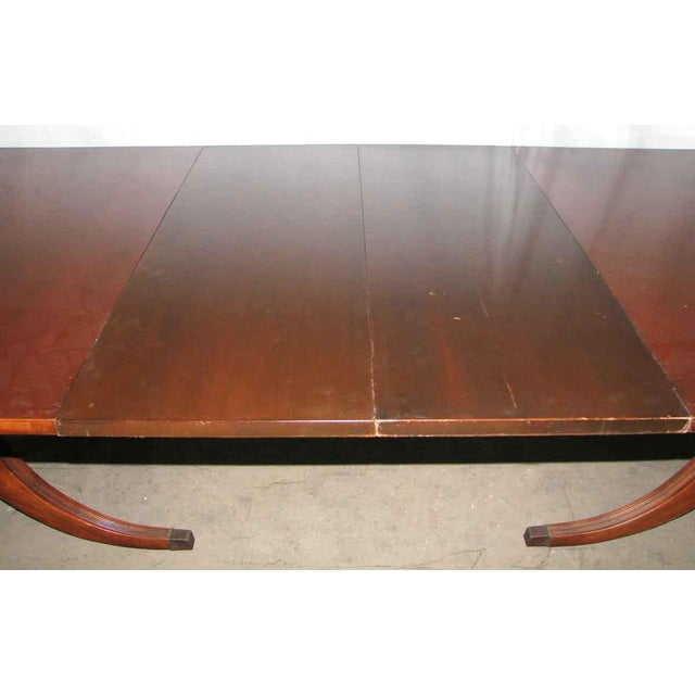 Mahogany 20th Century Traditional Duncan Phyfe Extendable Table For Sale - Image 7 of 10