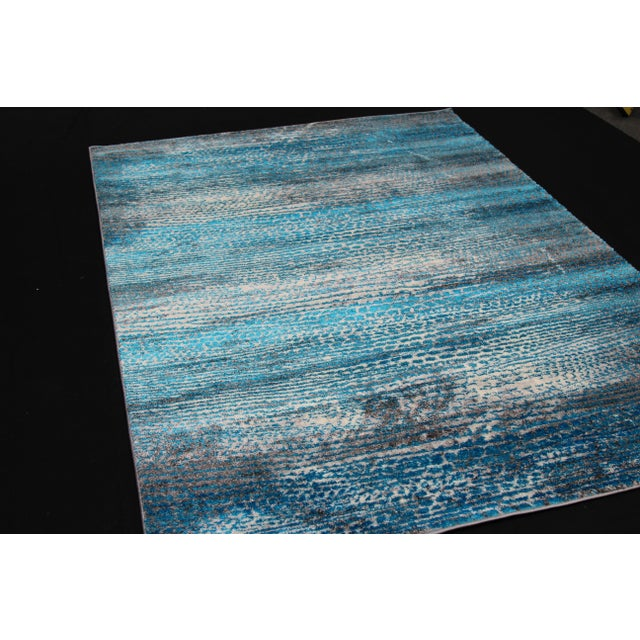 'Ocean' Blue Contemporary Rug 5'3''x 7'7'' - Image 3 of 5