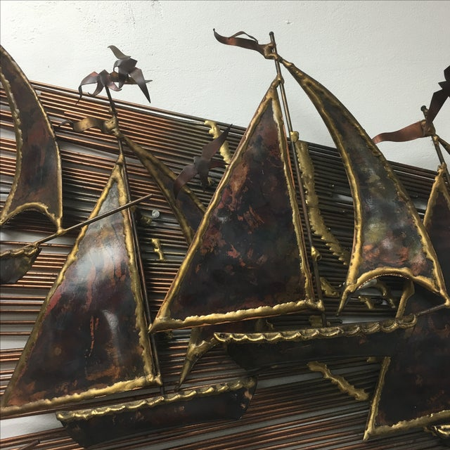 Brutalist Metal Boats Wall Art - Image 3 of 3