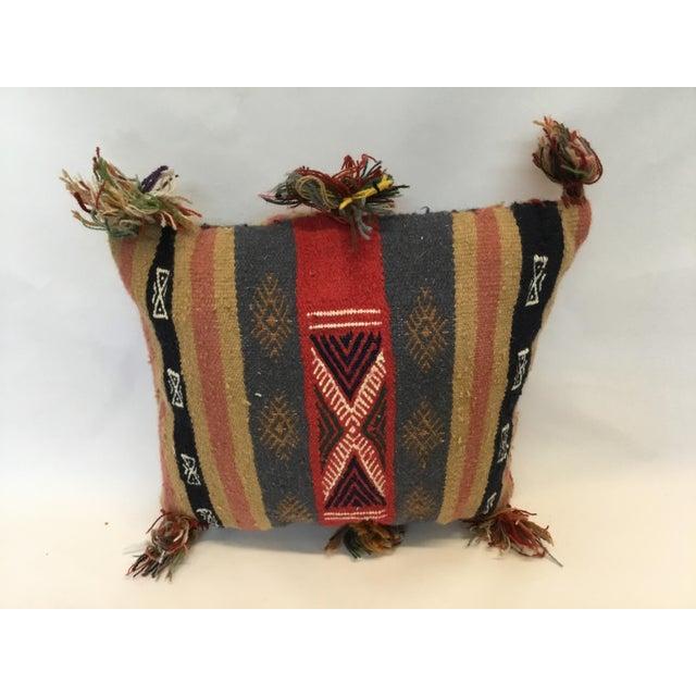 Tunisian Decorative Kilim Pillow - Image 3 of 3