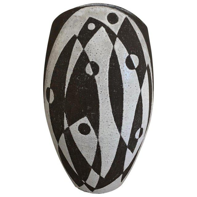 Ceramic Graphic Danish Ceramic Vase For Sale - Image 7 of 7