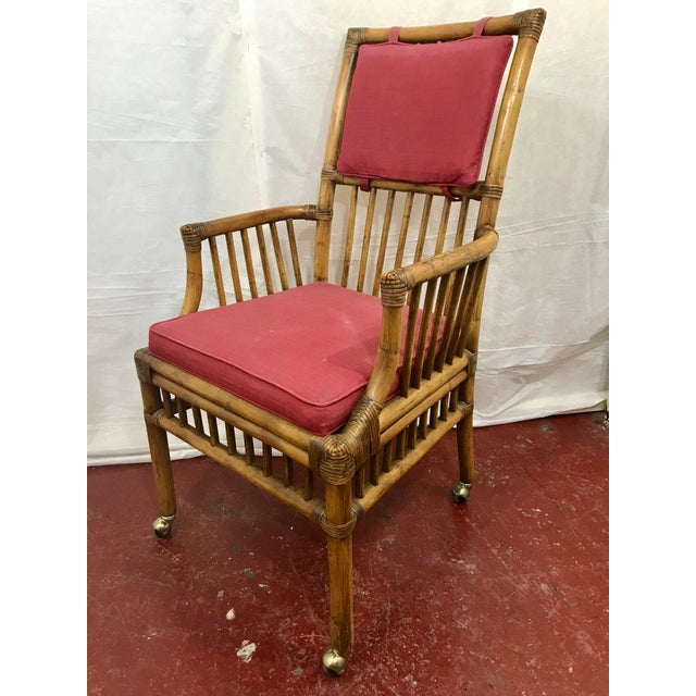 Mid-Century Modern Bamboo Dining Chairs Set of 8 For Sale - Image 3 of 13