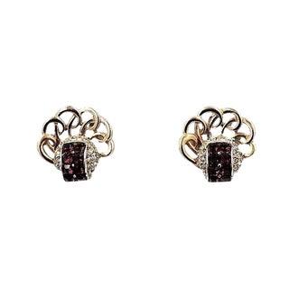 Boucher Faux-Amethyst Earrings, C1950 For Sale