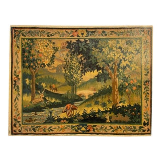 Late 20th Century Medieval Style Landscape Oil Painting For Sale