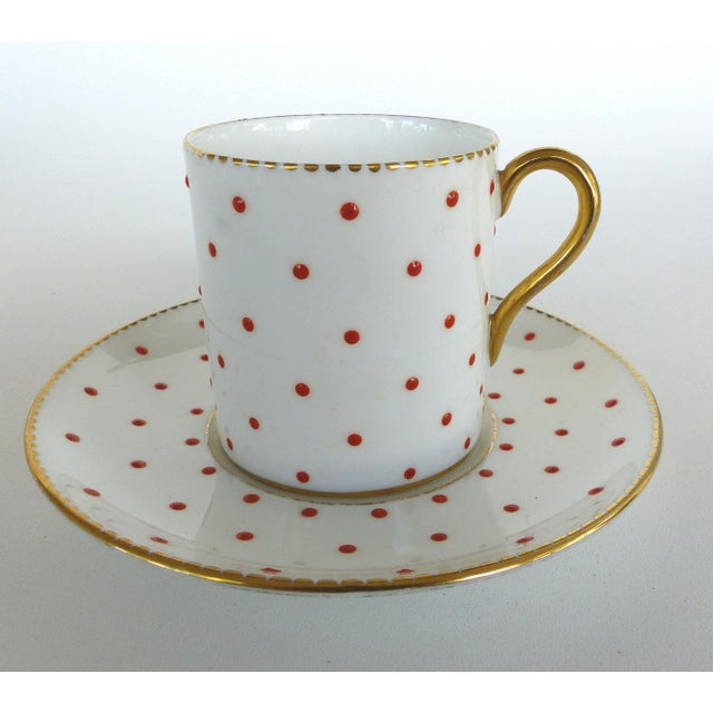 Shelley England Fine Bone China Enameled and Gilt Demitasse Cups and Saucers Offered for sale is a set of five fine china...