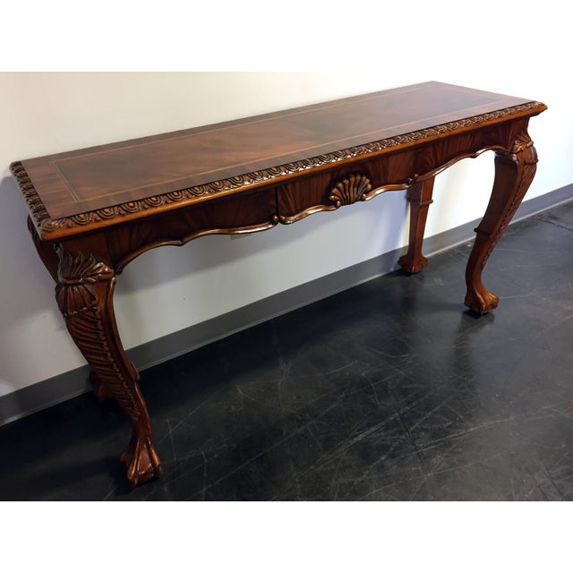 Chippendale Mahogany Inlaid Console Sofa Table - Image 3 of 11