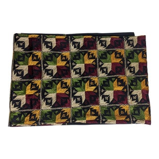 Exquisite Phulkari Hand Embroidered Queen Bedspread For Sale