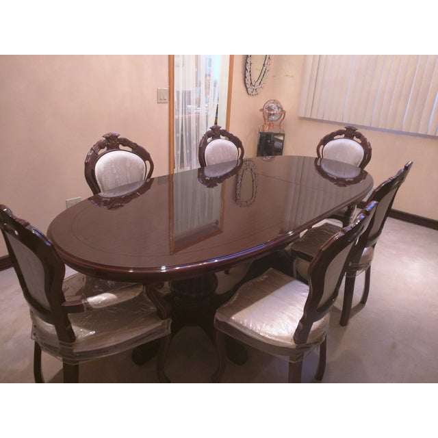 Classic Adjustable Dining Table & 6 Chairs - Image 2 of 8