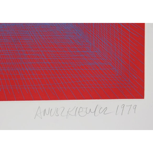 Artist: Richard Anuszkiewicz Title: Summer Suite (Red with Blue) Year: 1979 Medium: Intaglio Etching with Aquatint on...